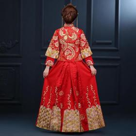 秀禾服新娘古装结婚红色敬酒礼服中式大码嫁衣喜服旗袍龙凤褂女