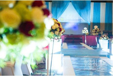 哆啦a梦主题沙画 为主题婚礼完美添彩