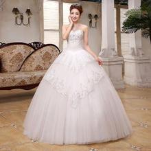 送三件套2016新款婚纱礼服韩式公主甜美蕾丝钻饰抹胸MK50