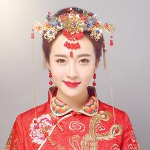 【买就送耳环】秀禾服中式复古民族风红色饰品秀禾服龙凤褂