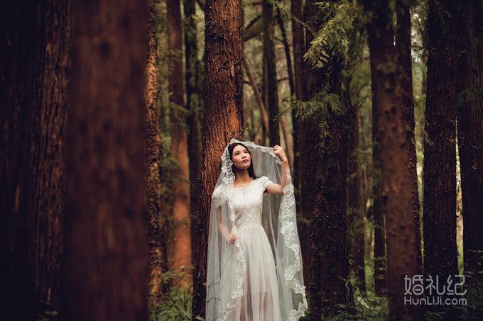 森系婚纱照 森系小清新婚纱摄影 魔方摄影客照欣赏