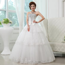 送三件套婚纱2016新款公主新娘蕾丝花边镶钻抹胸MK37