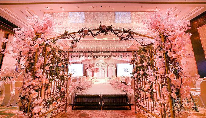 【壹加壹粉色婚礼布置】 香格里拉大酒店图片