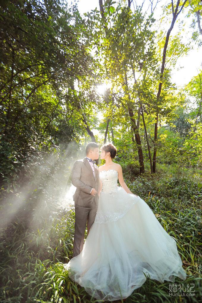 森系唯美婚纱照图片展示