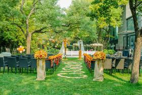 【天禧天成婚礼】森系户外清新橙色系草坪婚礼