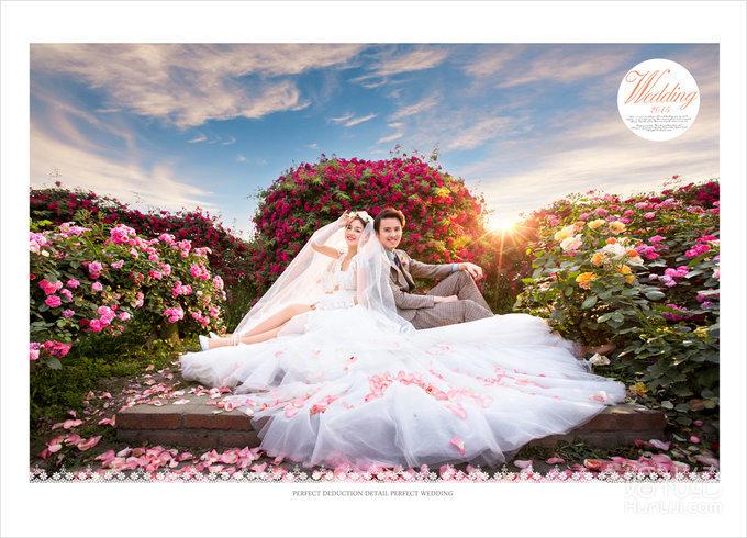 [花海系列] - 玫瑰园婚纱照