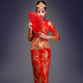结婚旗袍秀龙凤褂婚纱礼服
