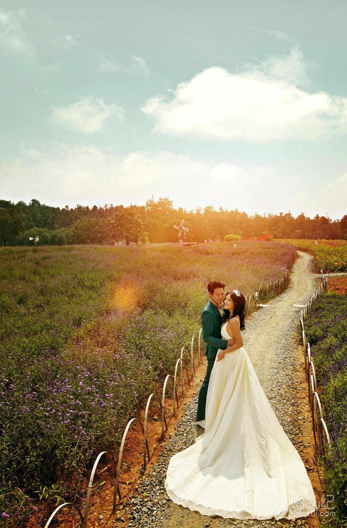 唯美自然 拍摄景点:外景基地 尚品格婚纱摄影,花海婚纱照作品,爱的
