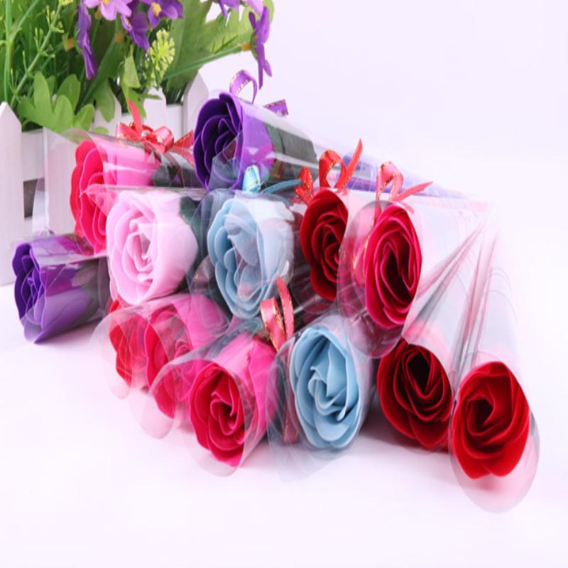 创意肥皂花浪漫婚庆礼品 个性喜糖 热卖单支玫瑰香皂花