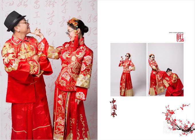 唐装婚纱手绘图