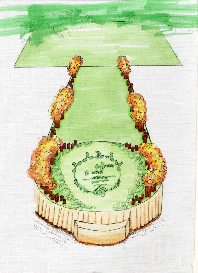 婚礼手绘图以及价格
