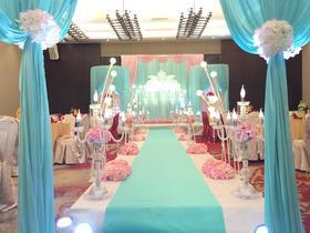 梵希韩式蓝色酒店婚礼布置