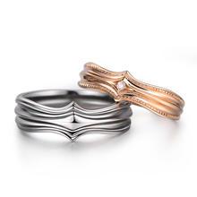 梵誓-骑士之爱中世纪典雅爱情玫瑰金情侣结婚对戒 首饰设计定制