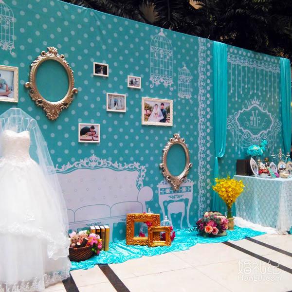蒂芙尼蓝欧式主题婚礼