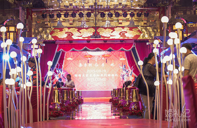 大屏与中式的巧妙运用,婚礼策划公司,婚礼纪 hunliji.