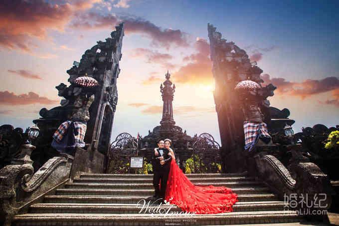 巴厘岛特色建筑,婚礼摄影