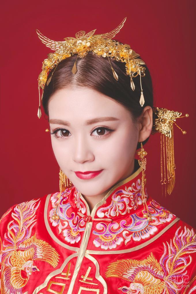 中式新娘造型,婚礼化妆师