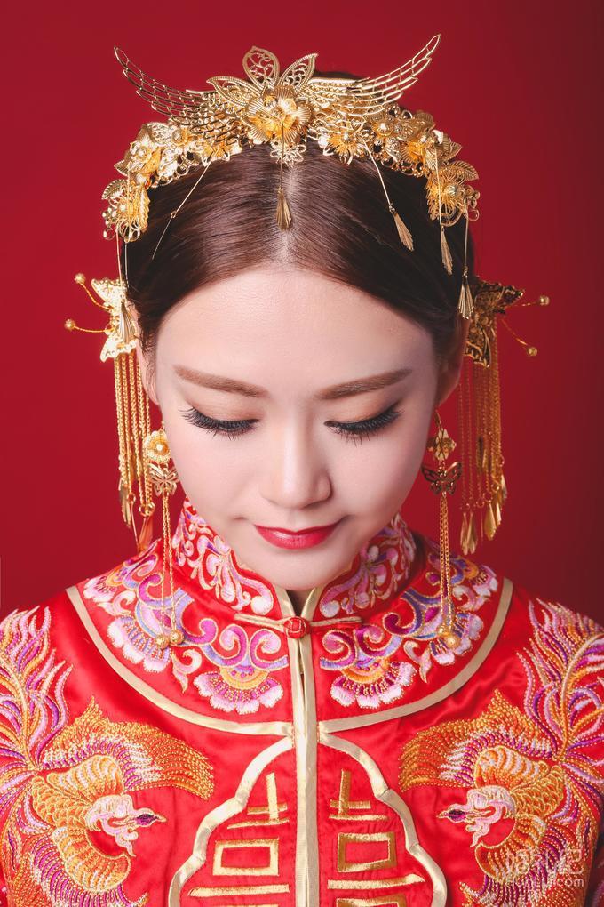 中式新娘造型图片