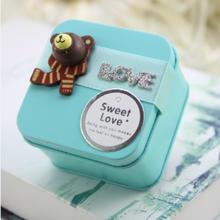 个性定制可爱小熊马口铁喜糖盒婚庆创意欧式韩式结婚宝宝出生满月