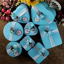 婚礼糖盒欧式创意tiffany结婚马口铁喜糖盒子 大号可装烟