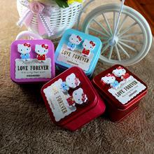 hellokitty欧式婚礼糖盒创意KT猫马口铁喜糖盒子批发
