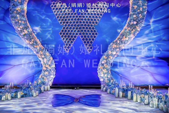 【非凡作品】唯美蓝色的蝴蝶主题策划婚礼