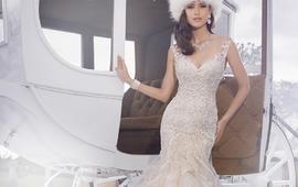 国际品牌鱼尾露背婚纱系列