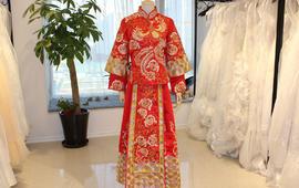 中式嫁娘龙凤褂秀禾服