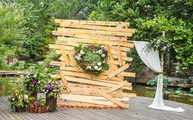 三只熊花艺|木质元素森系婚礼