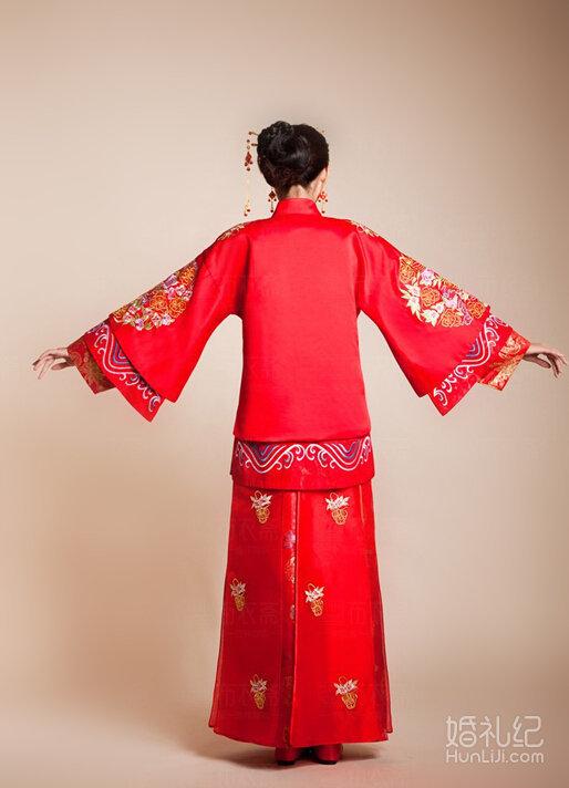 唐朝凤袍手绘图