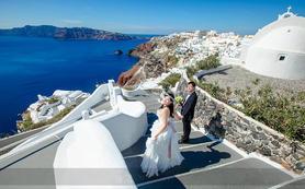 圣托里尼婚纱拍摄