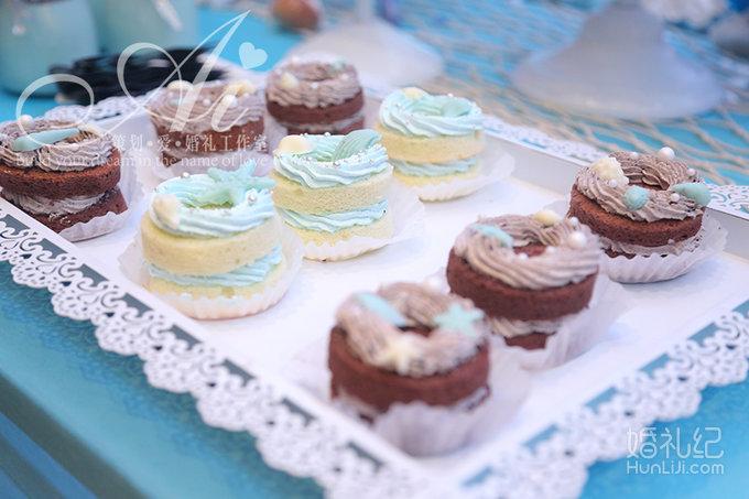 蓝色海洋主题婚礼,婚礼策划作品,婚礼纪 hunliji.com