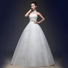 婚纱礼服2017春新款抹胸齐地婚纱大码蕾丝出门纱HS416