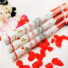 新款创意婚庆用品 玫瑰花瓣60cm结婚礼花礼炮 庆典派对礼花