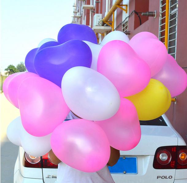 【一包包邮】浪漫求婚心形爱心 婚庆造型气球 婚房布置装饰