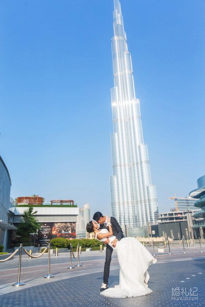 迪拜婚纱照-哈利法塔,婚礼摄影