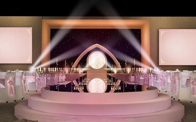 首席  布置 迎宾区 迎宾背景  3米x 5米  仪式区 仪式入口三层圆舞台