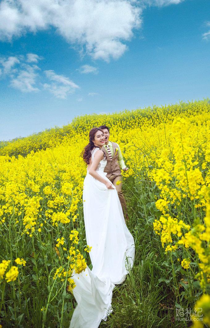 油菜花婚纱照第一季开拍