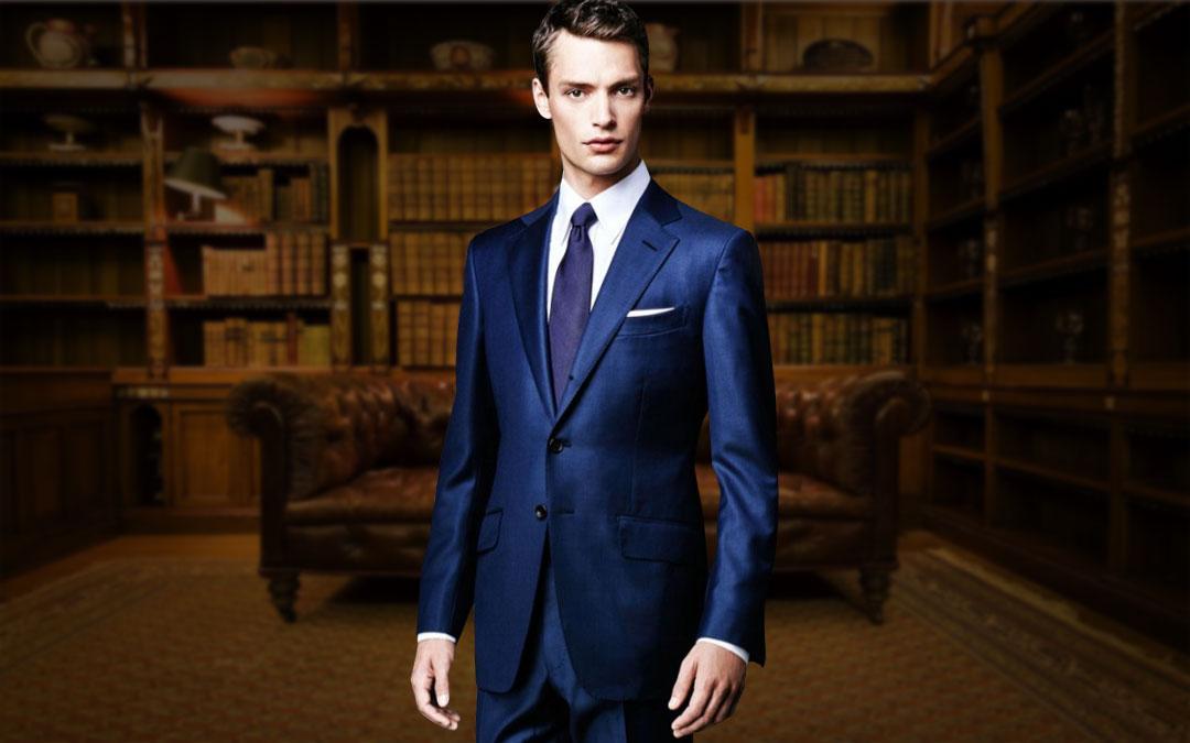 华名人高级定制 修身西服礼服套装 意大利进口面料