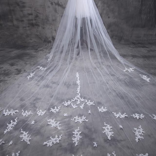 新娘婚纱5米头纱韩式新款超长结婚头纱