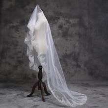 新娘婚纱礼服配饰韩式亮片蕾丝头纱新款结婚头纱