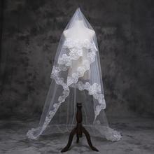 新款新娘头纱韩式蕾丝花边头纱3米结婚婚纱礼服配饰