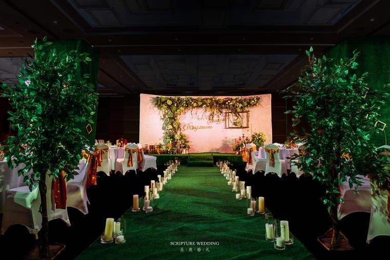 日光森林,清新森系婚礼风