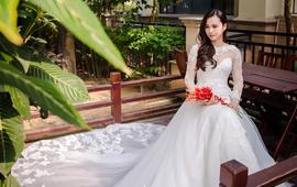 IN LOVE租赁3件套婚纱+礼服+长头纱