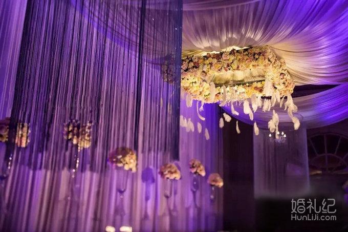 粉紫色婚礼love,婚礼策划公司