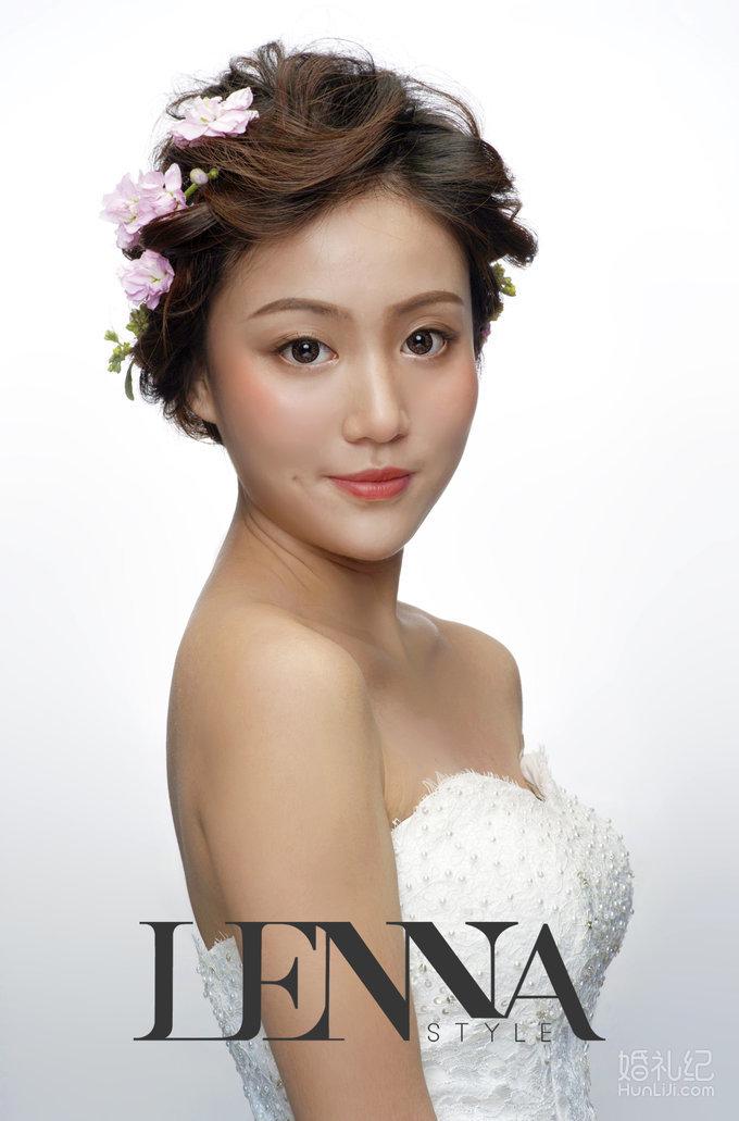 【平面拍摄作品】灵动空气感,清新花嫁新娘造型