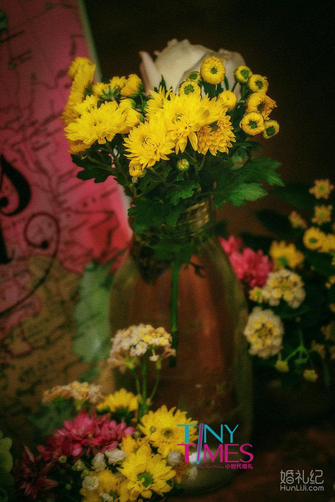 森系手绘抱花