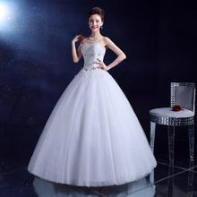 婚纱礼服2016新款高档甜美花朵齐地婚纱新娘结婚礼服MY18