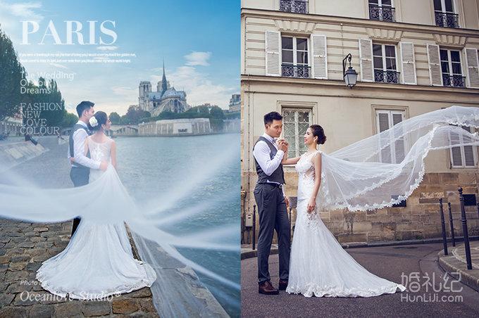 有在巴黎埃菲尔铁塔拍婚纱照的