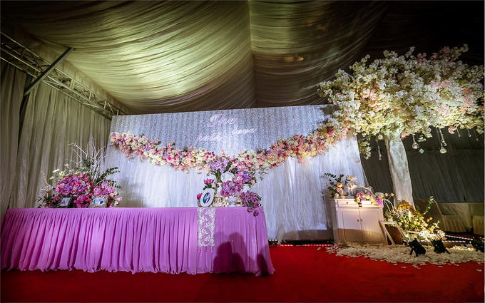 欧式婚礼喷绘樱花图片